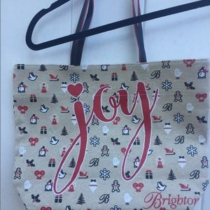 Brighton Joy Christmas canvas tote bag